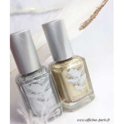 Priti NYC - Vernis naturel argent or Old Man Cactus Chrysanthos vegan cruelty free