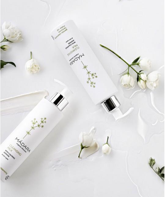 Madara Lait Démaquillant bio cosmétique plantes visage nettoyant peau sèche mature sensible vegan