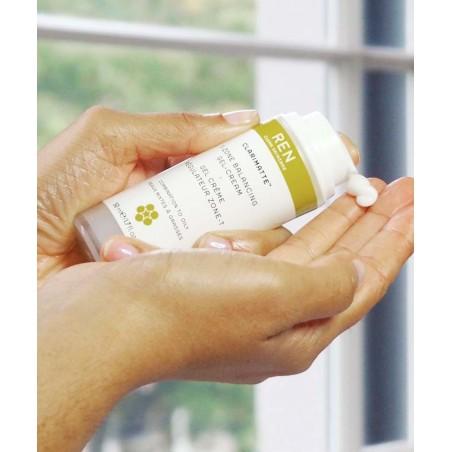 REN Duo Clarimatte™ Crème Régulateur Zone-T Fluide hydratant peau mixte et grasse