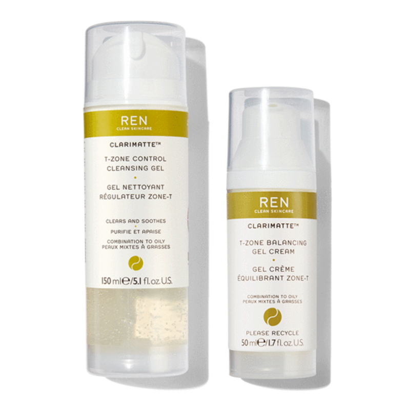 REN Clarimatte™ Duo Cleanser & T-Zone Balancing Gel Cream
