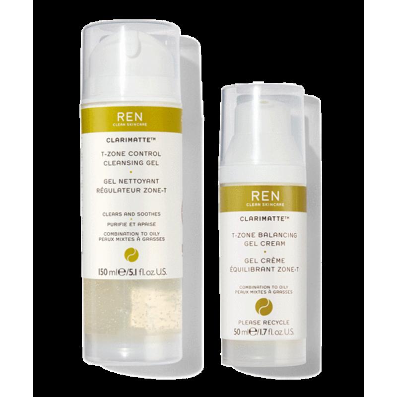 REN Clarimatte™ Duo Cleanser & T-Zone Balancing Gel Cream