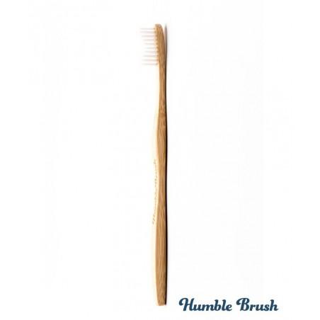 Humble Brush Brosse à Dents écologique en Bambou Adulte - blanc poils souples Vegan Cruelty free