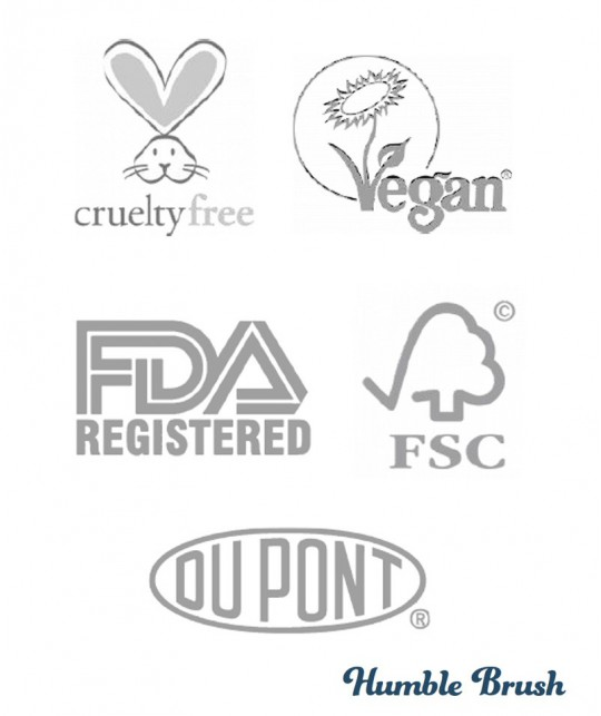 Humble Brush Sustainable Bamboo Toothbrush certifications vegan cruelty free FSC Nylon Dupont organic