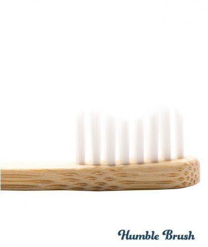Humble Brush Kids - white ultra soft nylon bristles Vegan recyclable bamboo