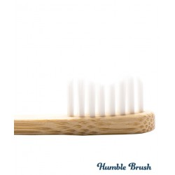 Humble Brush Brosse à Dents en Bambou Enfant - blanc ultra souple Vegan