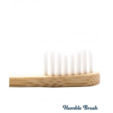 Humble Brush Kids - white ultra soft nylon bristles Vegan recyclable bamboo