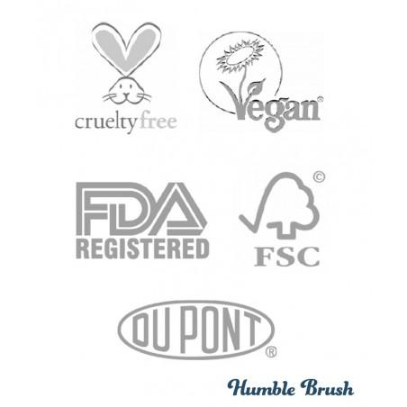 Humble Brush Brosse à Dents en Bambou Enfant - poils en nylon ultra souple Vegan ergonomique certifications cruelty free
