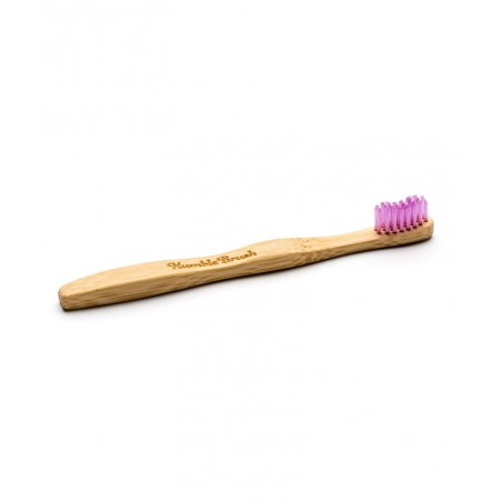 Humble Brush Brosse à Dents recyclable en Bambou Enfant - rose ultra souple