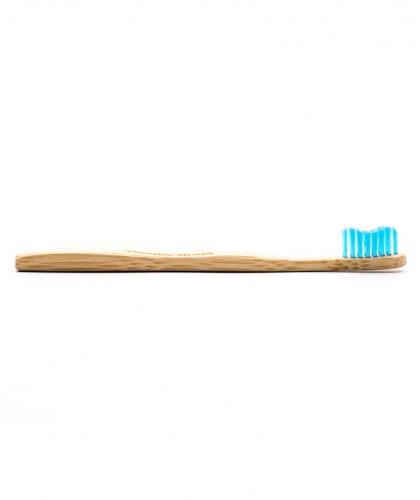 Brosse à Dents en Bambou Enfant - bleu Vegan poils nylon ultra doux Humble Brush