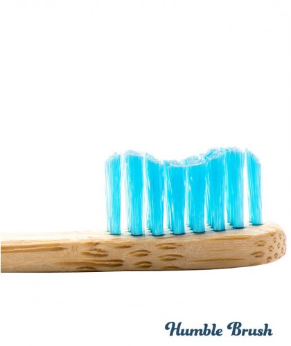 Humble Brush Kids - blue Toothbrush Bambou recyclable ultrasoft