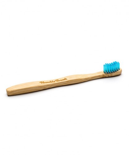 Humble Brush Brosse à Dents en Bambou Enfant - bleu Vegan poils nylon ultra doux France