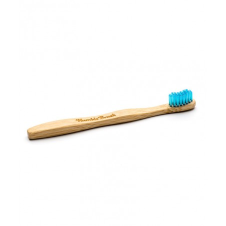 Humble Brush Brosse à Dents en Bambou Enfant - bleu Vegan poils nylon ultra doux France