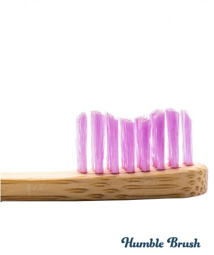 Humble Brush Kids - pink Bamboo Toothbrush vegan cruelty free