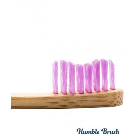 Humble Brush Brosse à Dents en Bambou Enfant - rose ultra souple vegan