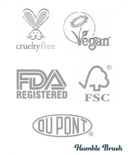 Humble Brush Umweltfreundliche Bambus Zahnbürste  Zertifizierungen cruelty free vegan FSC Nylon Dupont