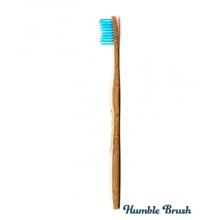 Humble Brush Brosse à Dents écologique en Bambou Adulte - bleu poils souples Vegan Cruelty free