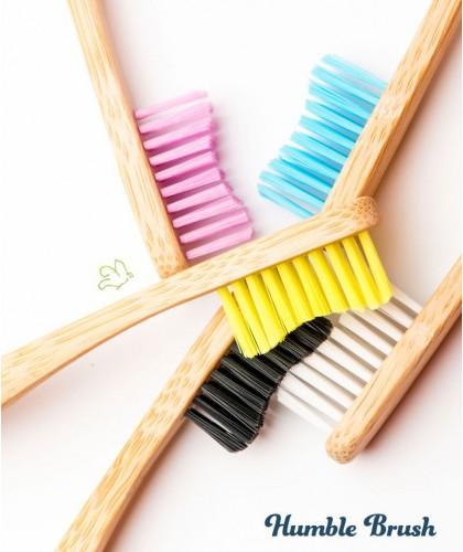 Bamboo Toothbrush Humble Brush Sustainable soft Nylon bristles BPA free Vegan Cruelty free