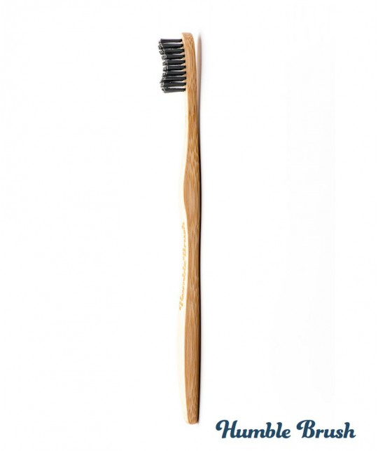 Humble Brush Sustainable Bamboo black Toothbrush Vegan Cruelty free Designed in Sweden
