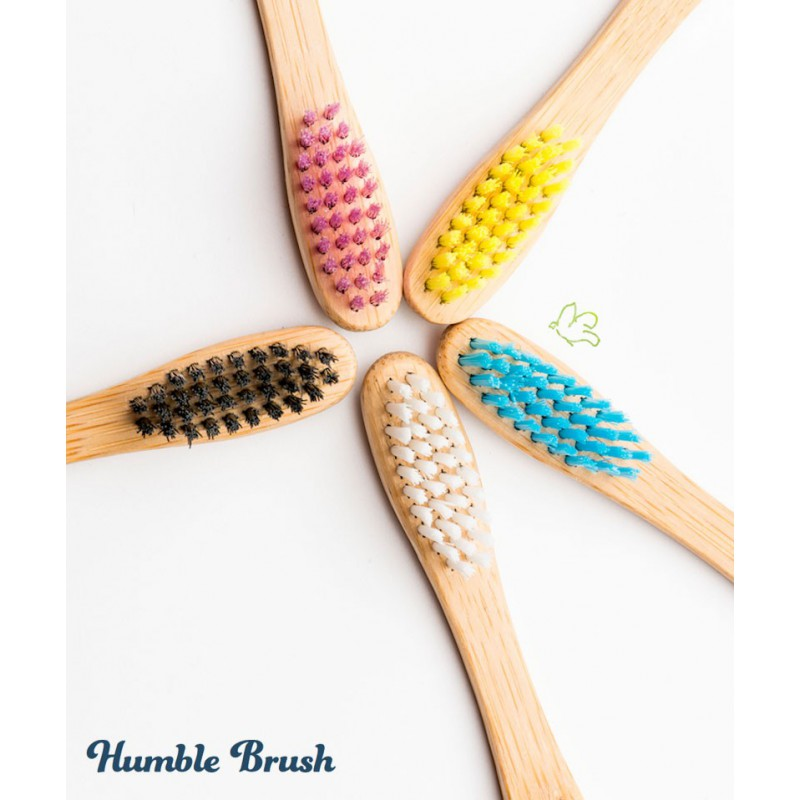 Humble Brush Sustainable Bamboo Toothbrush soft Nylon bristles BPA free Vegan Cruelty free