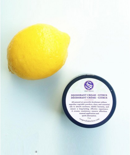 Soapwalla Citrus Deodorant cream Organic vegan natural skincare lemon
