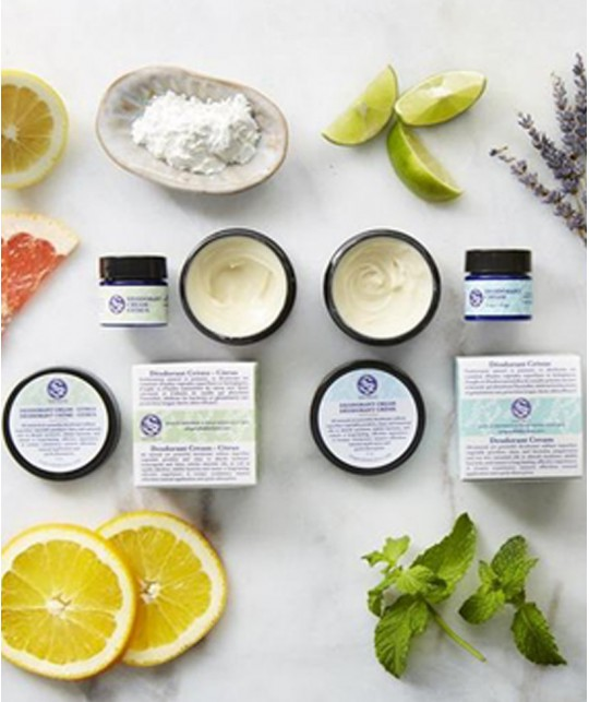 Citrus Deodorant cream Soapwalla organic travel size vegan cruelty free natural skincare travel size