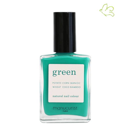 Manucurist Green Nail Polish Green Garden mint green vegan