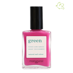 MANUCURIST Vernis Green Petula rose néon pink fuchsia flashy vegan cruelty free