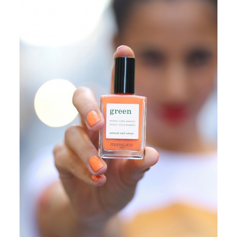 Manucurist Vernis à Ongles GREEN Cosmos orange Printemps été naturel vegan