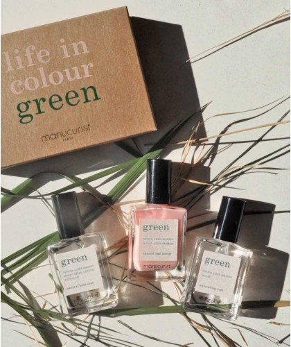 Manucurist GREEN - Coffret Green Three Steps Hortencia Vernis à Ongles GREEN