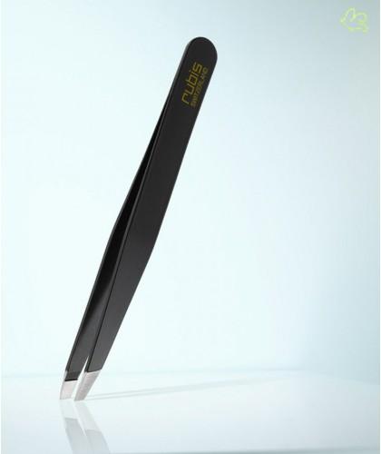 RUBIS Switzerland Tweezers Classic Slanted tips - Black eyebrows beauty cosmetics