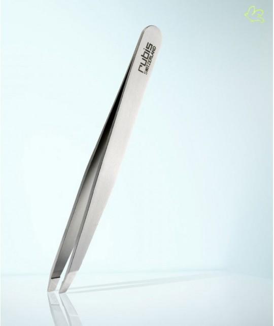 RUBIS Switzerland Tweezers Classic Slanted tips - Steel eyebrows beauty cosmetics design professional