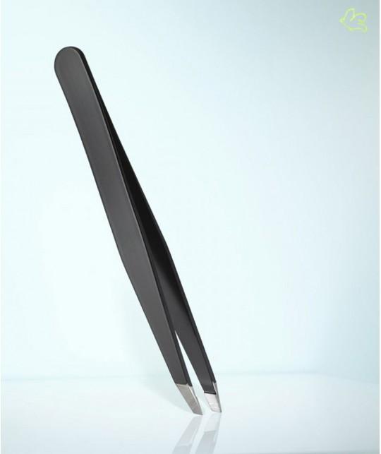 RUBIS Switzerland Pince à Épiler classique Strass Swarovski Emeraude noir mors biais sourcils beauté