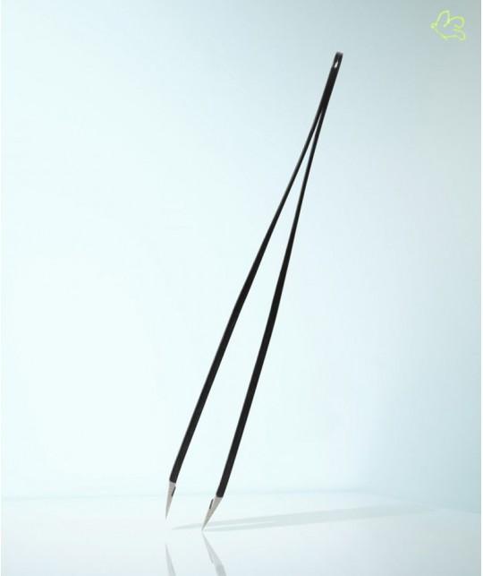 RUBIS Switzerland Pinzette - Swarovski Rubin schräg klassisch Schwarz Augenbrauen Beauty