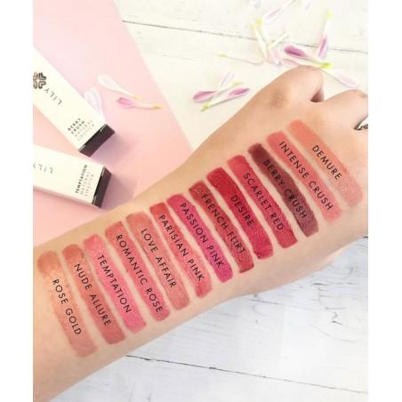 Maquillage minéral Lily Lolo Rouge à Lèvres naturel couleurs teintes swatch hydratant végétal beauté
