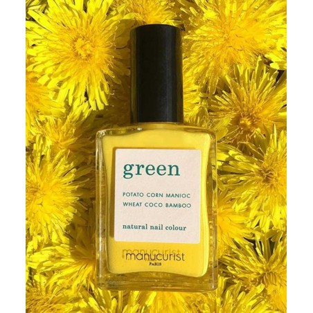 Manucurist Green GREEN Gold Button jaune Vernis non-toxique bouton d'or