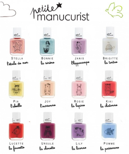 Petite Manucurist Kids Nail Polish non toxic made in France
