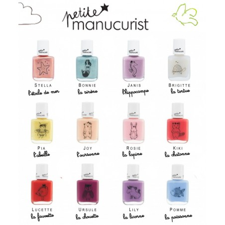 Petite Manucurist Kid Safe Nail Polish shimmery yellow gold PIA l'abeille