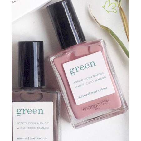 Manucurist Paris - Vernis à Ongles GREEN Old Rose naturel beauté vegan made in france