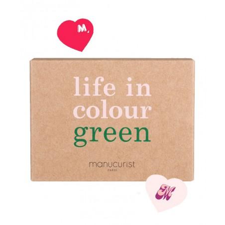 Manucurist Green Coffret Love Mom Fête des Mères Vernis à Ongles Pale Rose Peonie Anemone