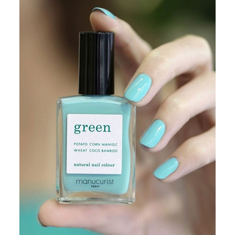 Manucurist Nagellack GREEN Seagreen vegan 9free Swatch