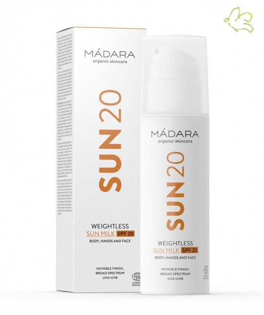 MADARA cosmetics Weightless Sonnenmilch SPF 20