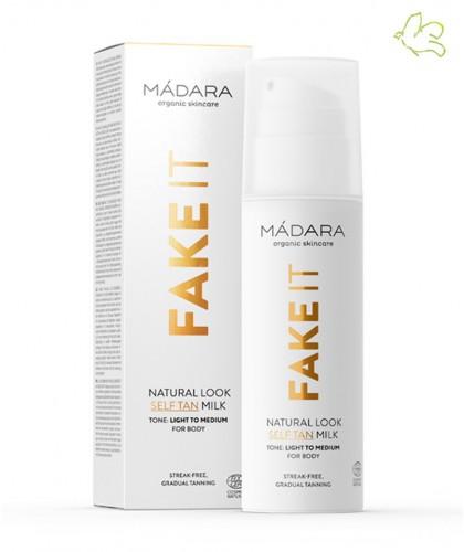 MADARA cosmetics FAKE IT Natural Look Self Tan Milk organic beauty