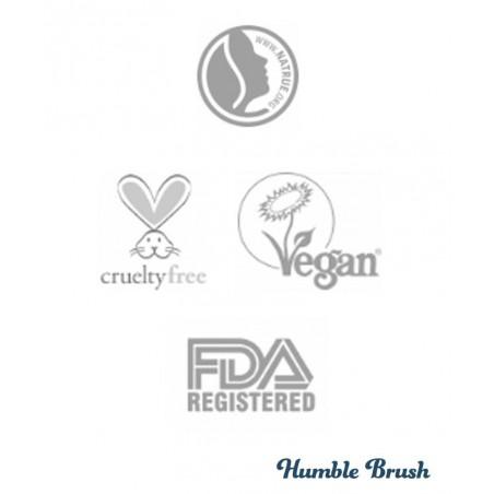 Humble Brush Natural Toothpaste Travel size Charcoal black Vegan organic certified