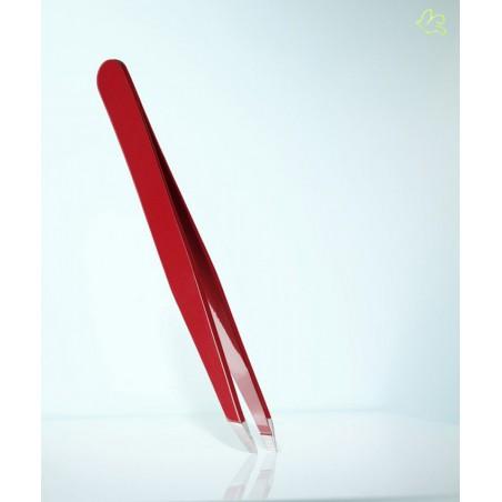 RUBIS Switzerland Tweezers Classic Slanted tips - Red eyebrows beauty cosmetics professional