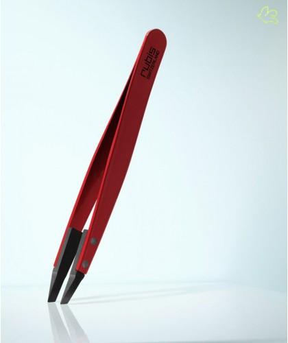 RUBIS Switzerland Tweezers Classic Techno Slanted tips - Red Men beard hair Design high tech