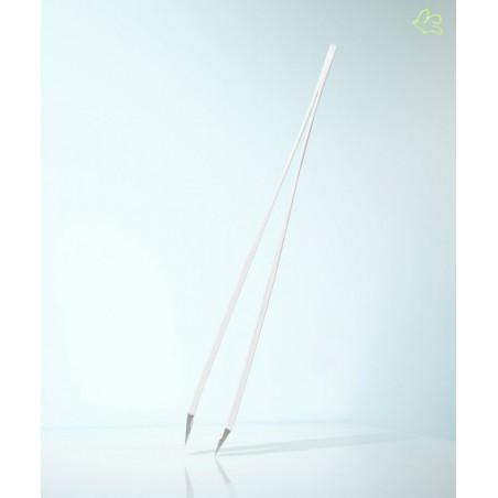 RUBIS Switzerland Tweezers Classic - Feather White slanted tips beauty eyebrows