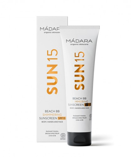 MADARA cosmetics SUN15 Beach BB Schimmernde Sonnencreme SPF 15