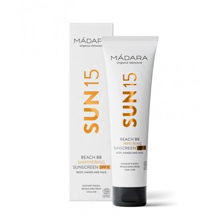 MADARA | Crème Solaire Corps Irisée bio SPF 15 Beach BB Cream