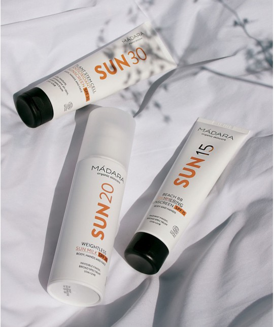 Madara organic cosmetics SUN15 Beach BB Shimmering Sunscreen SPF15
