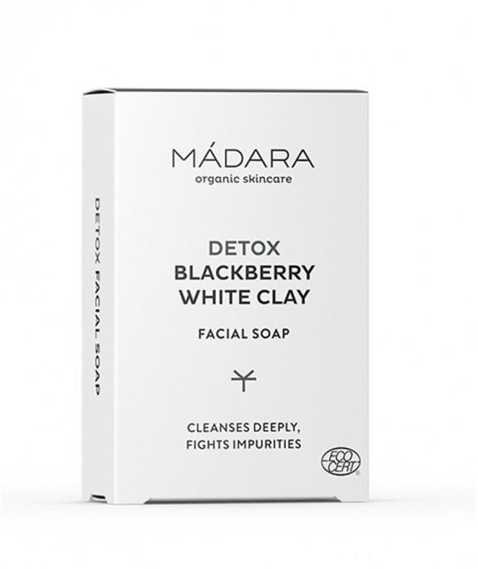 MADARA cosmétique bio Savon Purifiant Mûre & Argile Blanche visage peau acnéique grasse impure